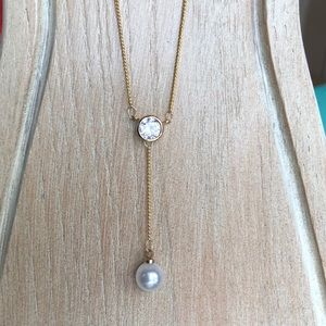 Jewelry - 18k gold plated cubic zirconia necklace